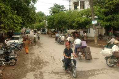 Street in village near Irrawaddy
