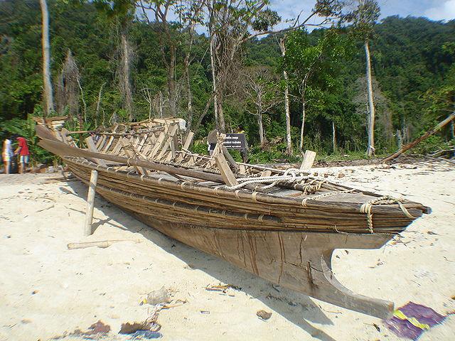 A Moken boat