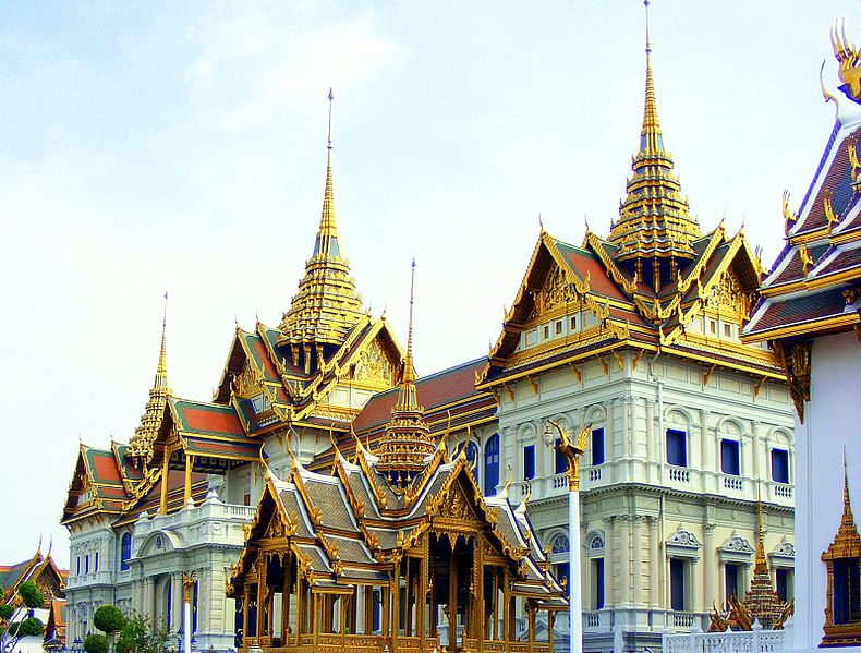 The Chakri Mahaprasat, inside the Grand Palace in Bangkok, the Dynastic seat and official residence of the Chakri Monarchs.