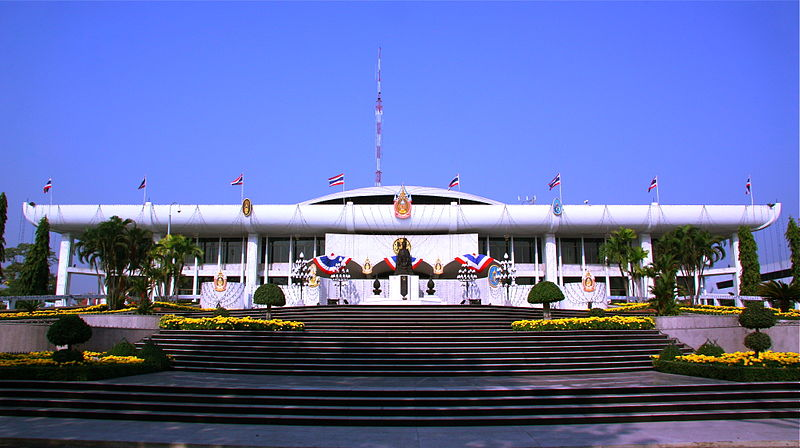 Parliament House of Thailand the meeting place for both the House and the Senate since 1974
