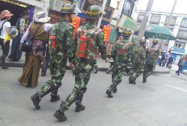 Barkhor Square, Lhasa, Occupied Tibet, 2012