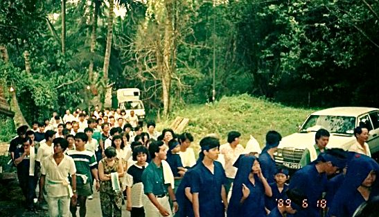 Funeral procession through Bukit Brown, courtesy of Koh Geok Khee