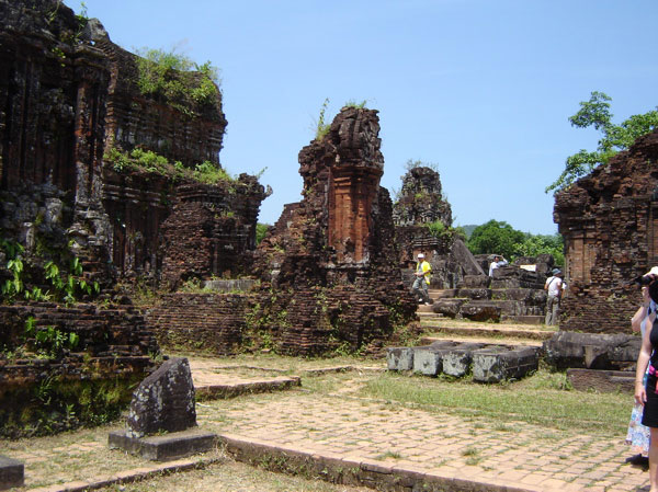 Mỹ Sơn in Vietnam is the site of the largest collection of Cham ruins.