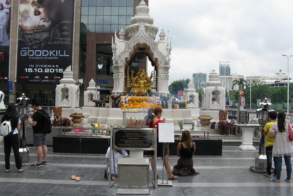Ganesh shrine at Ratchaprasong