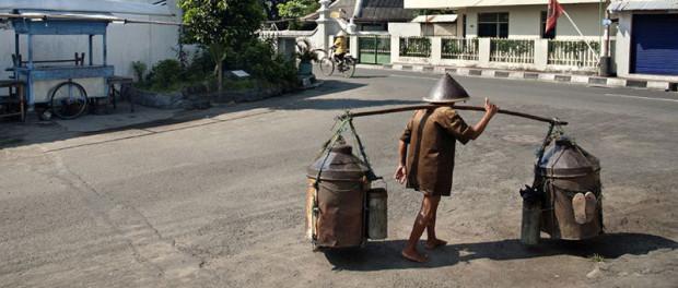 A street scene in Yogyakarta, Indonesia