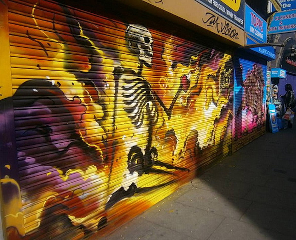 Jim Vision, Brixton graffiti artist, honours self-immolations