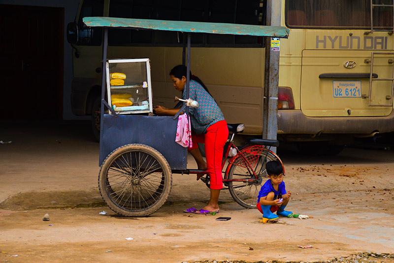 KRSEA food cart Laos