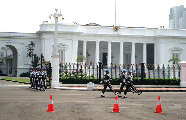 Merdeka Palace, the official residence of the president of Indonesia
