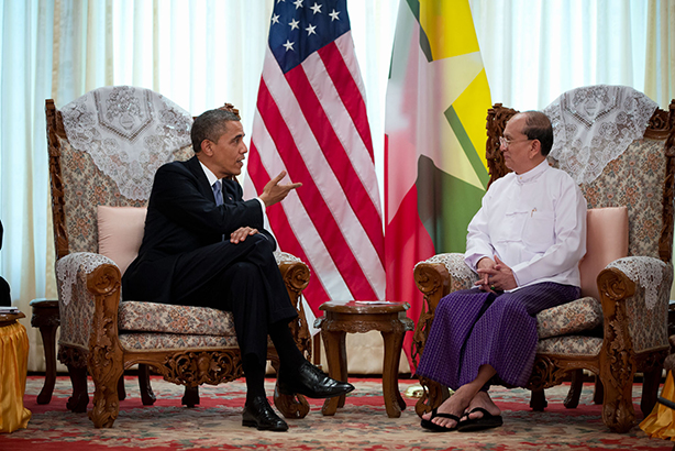 The momentous visit to Myanmar by President Barack Obama