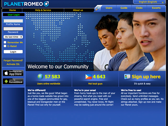 Planet Romeo (PR): Gay dating site in the Philippines