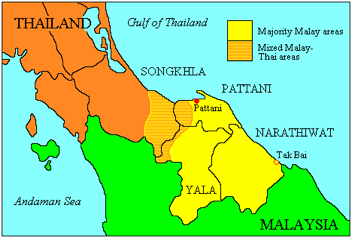 The Muslim provinces in Thailand's Deep South