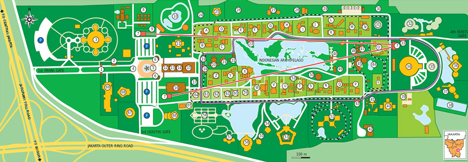 Guide map of Taman Mini