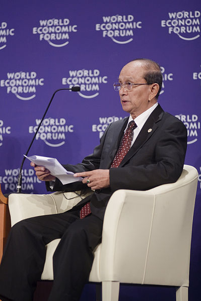 Thein Sein, President of Myanmar since March 2011, at the World Economic Forum