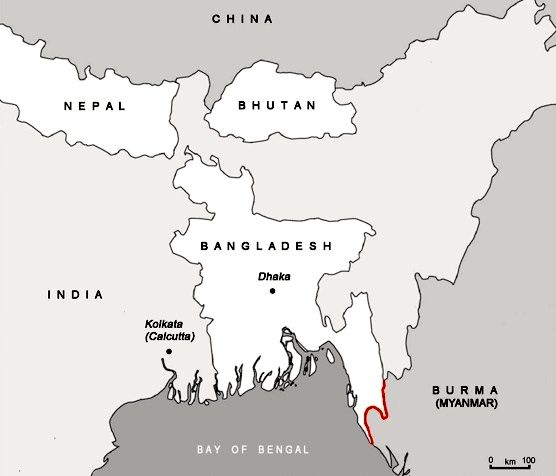 Bangladesh On Map Of Asia.Guns And Gas In Southeast Asia Transnational Flows In The Burma
