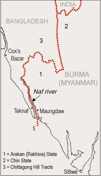 Map 2: The Burma-Bangladesh borderland