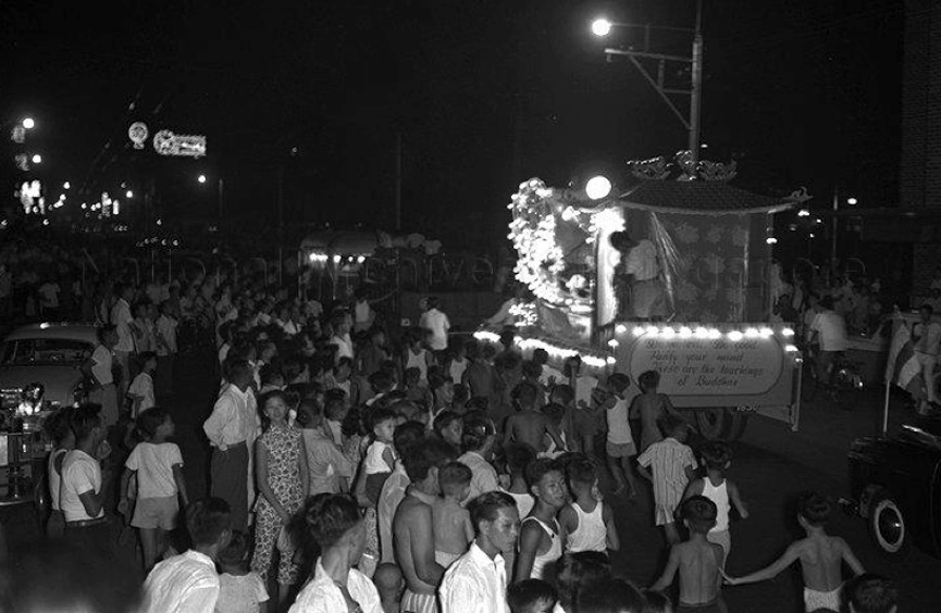Vesak Day Procession Through Singapore Main Roads in 1959 Source: National Archives of Singapore