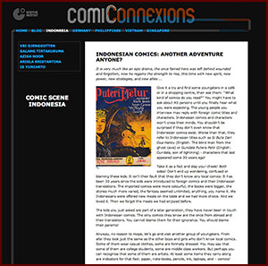'Comiconnexions' started  in 2011. It connects comic artists in Germany and South East Asia