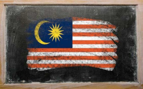 flag-of-malaysia-on-blackboard